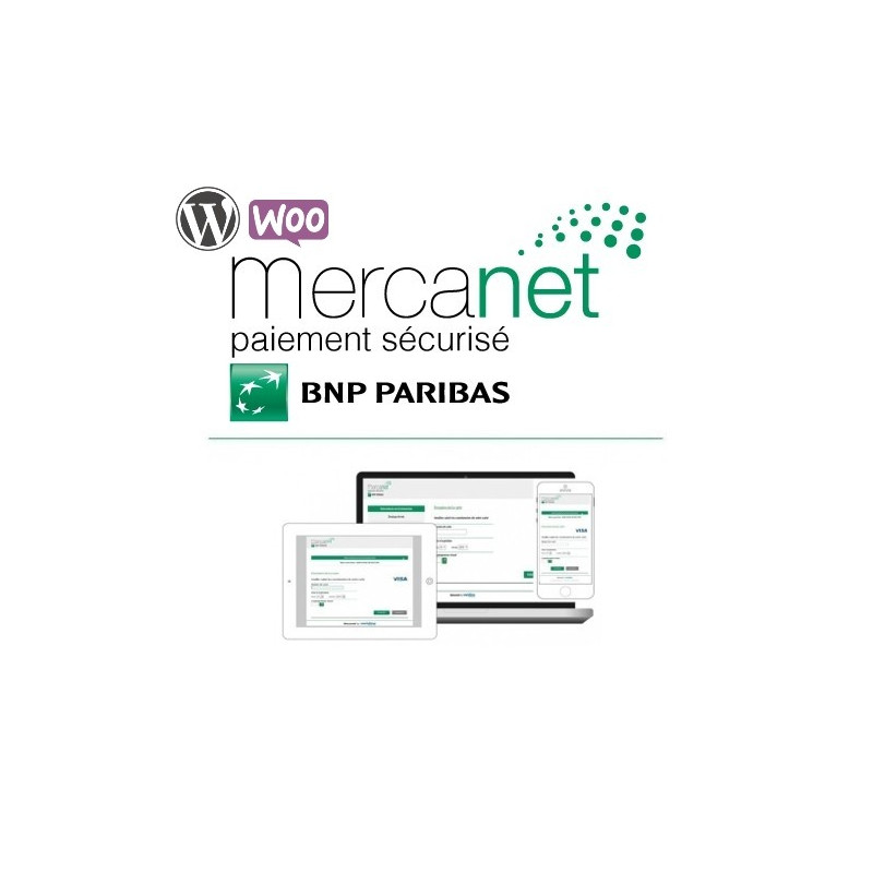Module BNP Paribas - Mercanet pour WooCommerce Wordpress (Officiel)