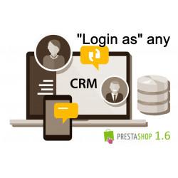 """Super Utilisateur / Super User - CRM """"se connecter comme le client"""" Prestashop 1.7"""